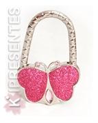 Picture of Suporte Bolsa borboleta rosa pink brilho