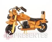 Picture of Miniatura Moto Madeira Banco Preto
