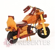 Picture of Miniatura Moto Madeira Garupa Mogno