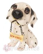 Picture of Cachorro Dálmata plaquinha Bem Vindo