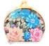 Picture of Mini Porta jóias Espelho Bolso Floral Azul