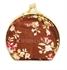 Picture of Mini Porta jóias Espelho Bolso Marrom e Floral