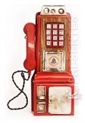 Picture of Cofre Telefone Público Vermelho Antigo