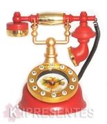 Picture of Relógio Telefone Clássico Vermelho
