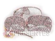 Picture of Necessaire Oncinha Rosa 3 em 1 Espelho