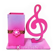 Picture of Porta Caneta Nota Musical Rosa