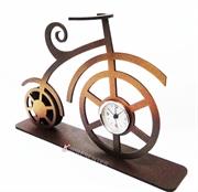 Picture of Relógio Bicicleta Clássica Marrom Dourada