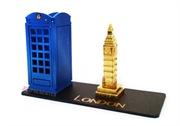 Picture of Porta Caneta Cabine Inglesa Azul Big Ben Dourado