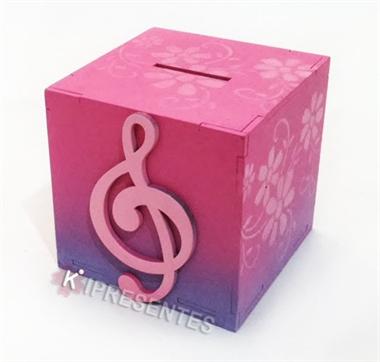 Picture of Cofre Caixa Clave de Sol Rosa