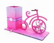 Picture of Porta Lápis Bicicleta Rosa Flores