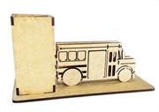 Picture of Porta Caneta Cartão ônibus Escolar Americano Vintage