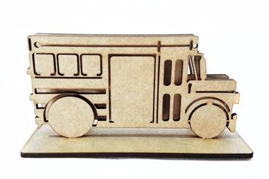 Picture of Porta Cartão ônibus Escolar Americano Vintage mdf