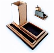 Picture of Porta Lapis Caneta clipes e celular em mdf